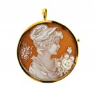 Contemporary Di Cara 18ct Gold Cameo
